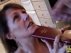 Religious housewife sub ravaged without mercy
