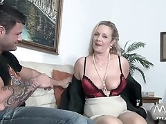 MMV FILMS Alluring Granny tries fresh jock meat